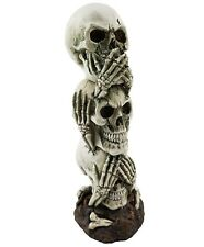 Skull Ornament Hear See Speak No Devil Bones Statue Figurine Sculpture *18 cm*