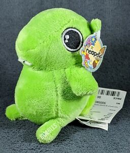 """NWT 2007 Green Meepit Neopets Petpet Plushie Stuffed Animal 4"""" gopher RARE! holo"""