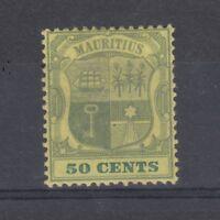 Mauritius 1900 50c SG152 Mint On Card J1309