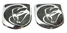 x2 New BLK Dodge SRT Viper - Striking Snake Hood Emblem Replaces OEM: 1VN1706SAA