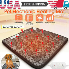 Pets Dog Cat Waterproof Heated Pad Bed Puppy Warmer Electric Heating Mat Us