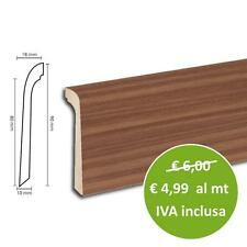 Copri Battiscopa In MDF Rovere Scuro | Asta Da 240 Cm