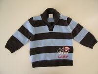 S.Oliver Pullover Strickpullover blau gestreift Winter 86 Junge Shirt