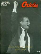 1988 Baltimore Orioles vs Detroit Tigers Program: Eddie Murray 4 Hits & HR