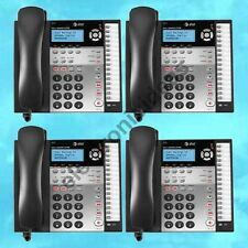 4 AT&T 1080 4-LINE EXPANDABLE CORDED TELEPHONES WITH DIGITAL ANSWERING SYSTEM