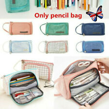 Kids Pen Pencil Case Double Zip School Stationery Cosmetic Bag Large Capacity