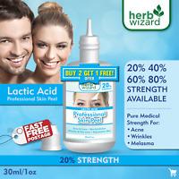 LACTIC Acid Skin Peel For: Acne,Wrinkles,Melasma,Age,Spots,20%-40%-60%-80%