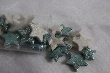 36 X Leichte Sterne Weiss Streuen Glitzer Dekoration Styropor