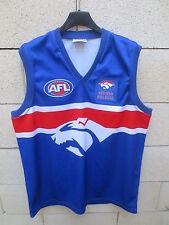 Maillot football australien footy WESTERN BULLDOGS AFL shirt jersey XXL bleu
