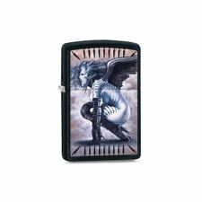 Zippo Black Matte Olivia with Wings Lighter