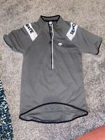 Descente Cycling Jersey Mens Large Gray Vintage