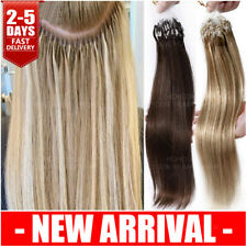 200PCS THICK Micro Ring Loop Beads 100% Human Remy Hair Extensions 1G Nano Links