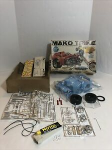 Complete Vintage MPC Mako Trike 1/12 1:12 scale Chopper Model Kit 1 Broken Piece