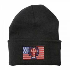 DOGTOWN SKATEBOARD FLAG PATCH BLACK BEANIE HAT NEW - THRASH PUNK USA WARM