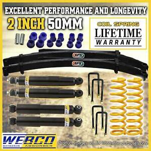 2 Inch Lift Kit Shock Absorber King Coil EFS Leaf Springs for Jeep Cherokee XJ