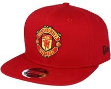 Manchester United New Era 9 FIFTY Rojo Gorra de Béisbol Plana Pico Licencia Oficial