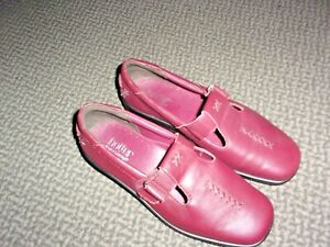 """NEW """"HOTTER"""" SUNSET LEATHER MAROON SHOES UK 5.5 WIDE FIT"""