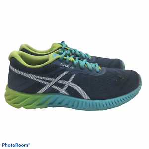 ASICS FUZE X LYTE  Womens 6M Gray & Green Running Sneakers T670N