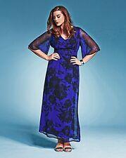 Maxi Vestido Estampado Floral de TI bespokef UK 26 ajuste estándar (B-DD) Box1458 I