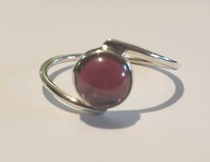 Brand New Sterling Silver 925 Garnet Ring, Size R