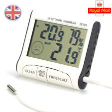 Digital LCD Thermometer Humidity Meter Kitchen Temp Indoor Outdoor Hygrometer
