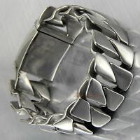 Mens Link Bracelet 316L Stainless Steel Heavy Cuban Curb Fashion Chain Wrist