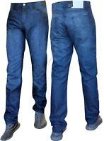 """Mens Jeans Regular Fit Straight Leg Denim Pants All Waist Big Tall Sizes 30""""-40"""""""