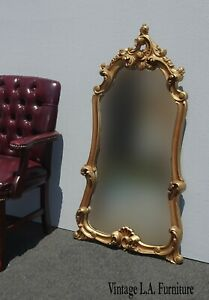 Vintage French Provincial Gold Ornate Wall Mantle Mirror