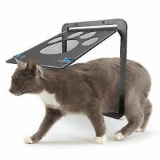 Dog Cat Pet Supplies Screen Door Footprint Pattern Window Screen Doggie Flap Pet