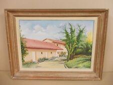HUILE SUR TOILE DE MAX MAURER 1980 maison du midi