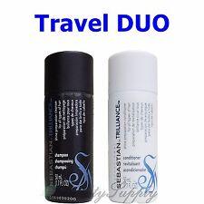 Sebastian Trilliance Shampoo and Conditioner 1.7 oz Travel Size Duo
