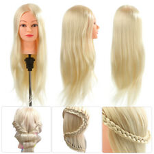Salon 30% Real Human Hair Training Head Hairdressing Styling Mannequin Doll 26""