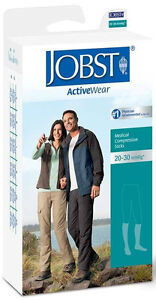 NEW Jobst ActiveWear 20-30 mmHg Firm Support Unisex Athletic Knee Highs Stocking