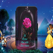 BEAUTY AND THE BEAST/ROSE/FLIP WALLET PHONE CASE COVER FOR IPHONE/SAMSUNG MODELS