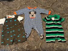 baby clothes 0-3 months boys lot Romper, Overalls, Sleeper