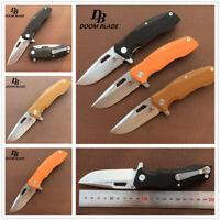 Ball Bearing Folding Knife D2 Blade G10 Flipper Tactical Pocket Knives Camping