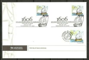 US SC # 4073 Voyage Of Samuel De Champlain , First day of issue Ceremony Cover.
