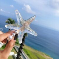 Fashion Starfish Sweet Acrylic Resin Hair Snap Clip Slide Hairpin Barrette Women