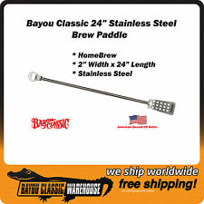 """Bayou Classic 1051 Stainless Steel 24"""" Home Brew Brewing Whiskey Still Paddle"""