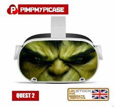 More details for premium laminated vinyl skin decal sticker for oculus quest 2 green fella uk
