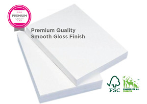 A3 A4 A5 A6 White gloss card & paper sheets for crafts | work, printers &copiers