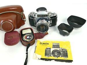 Vintage Exakta Varex 11b SLR Film Camera with Carl Zeiss Pancolar 2/50 Lens  |63