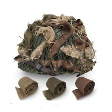 WW2 CAMOUFLAGE US ARMY INFANTRY HELMET SCRIM CAMOUFLAGE BURLAP THREE COLORS