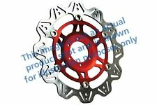 Ajuste Yamaha FZ6 S2-Desnudo/no ABS/4 P 07 > 09 EBC VR de disco de freno rojo HUB Frontal Izquierdo