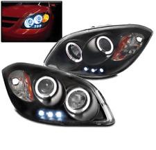 2005-2010 CHEVY COBALT/2007-2009 PONTIAC G5 BLACK HALO PROJECTOR LED HEADLIGHTS