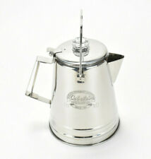 Cabelas Stainless Steel Percolator 14 Cup Coffee Pot w/ Lid Corrosion Resistant