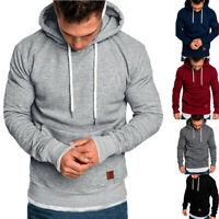 Men Winter Slim Fit Hoodie Hooded Sweatshirt Coat Jacket Outwear Sweater HC