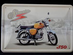 Blechschild Simson Moped S50  Motorrad DDR Suhl 20 x30
