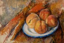 Four Peaches on a Plate by Paul Cézanne 60cm x 40cm Art Paper Print