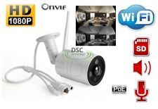 2.0MP PoE Wifi Onvif fisheye View IP security Bullet Camera, SD card Slot, audio